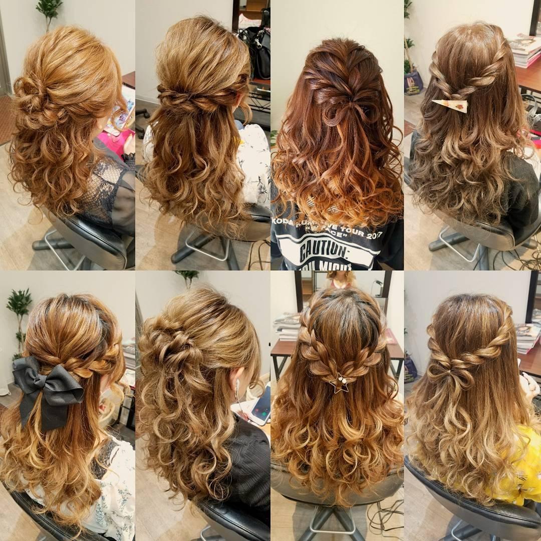 平原舞さんのヘアスタイルの写真。テーマは『宮崎市ヘアセット、宮崎市、ヘアセット専門店、セットサロン、ヘアセット、ヘアアレンジ、ハーフアップ、ブライダル、ブライダルヘア、結婚式、結婚式ヘアアレンジ、結婚式ヘア、編み込みヘア、宮崎、hair、hairset、hairstyle、hairarrange、宮崎美容室、宮崎市STELLA、宮崎市セットサロン、編み込み、宮崎市美容室、宮崎県、おしゃれ、オシャレ、おしゃれな人と繋がりたい』