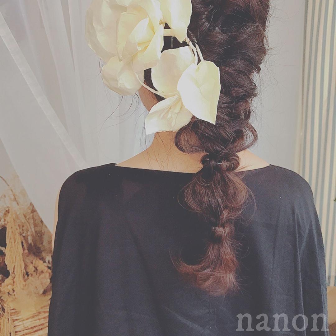 浦川 由起江さんのヘアスタイルの写真。テーマは『ブライダルヘア、編み込みアレンジ、ヘアアレンジ、三つ編み』