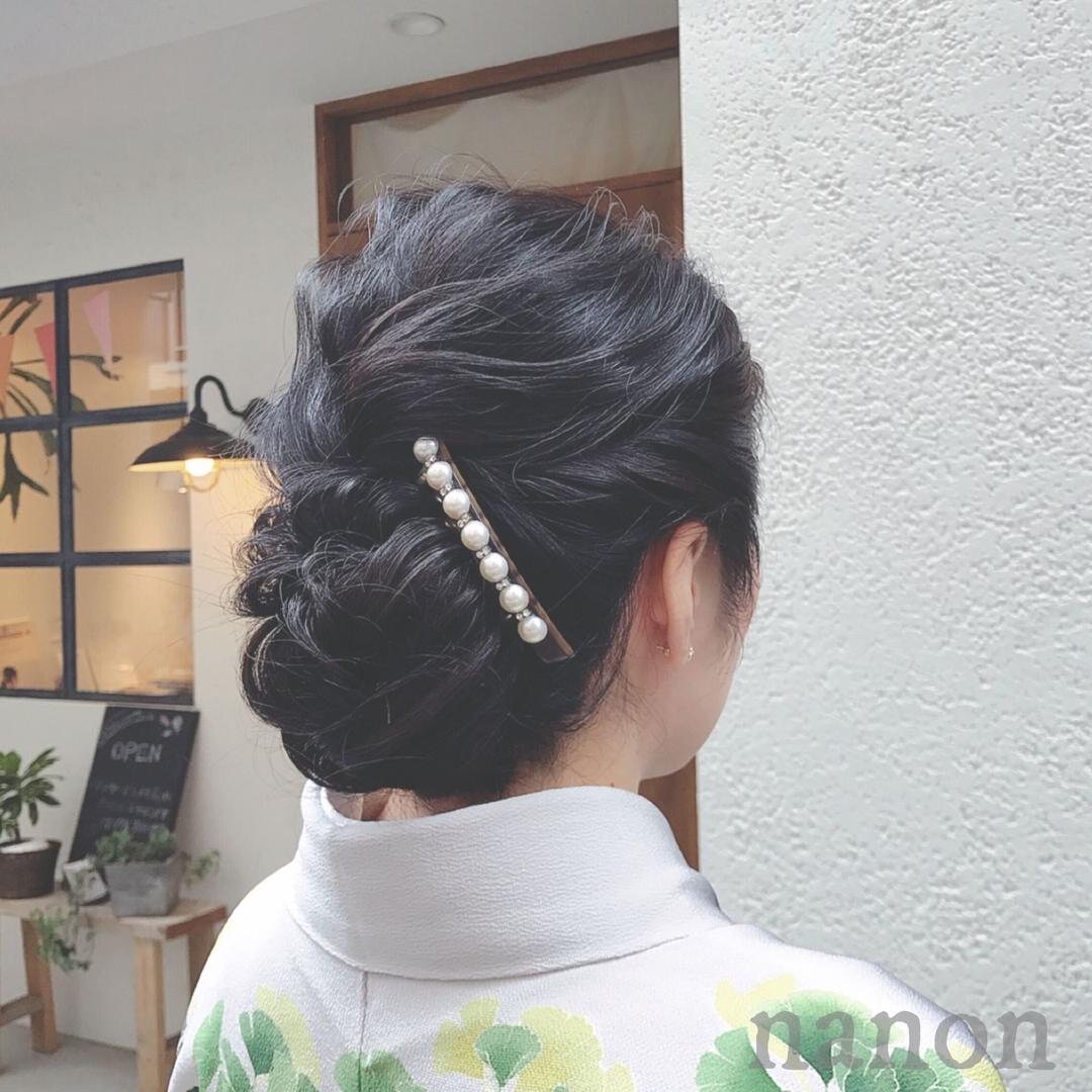 浦川 由起江さんのヘアスタイルの写真。テーマは『ヘアアレンジ、着物ヘア、着物アレンジ』