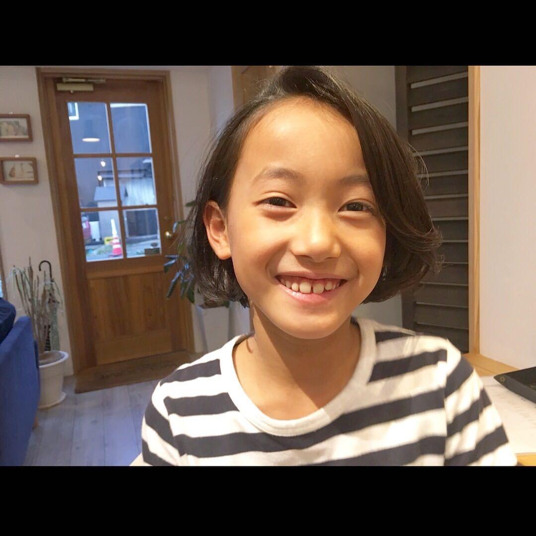 藤枝晃也さんのヘアスタイルの写真。テーマは『ボブ、ヘア、kids、キッズカット』