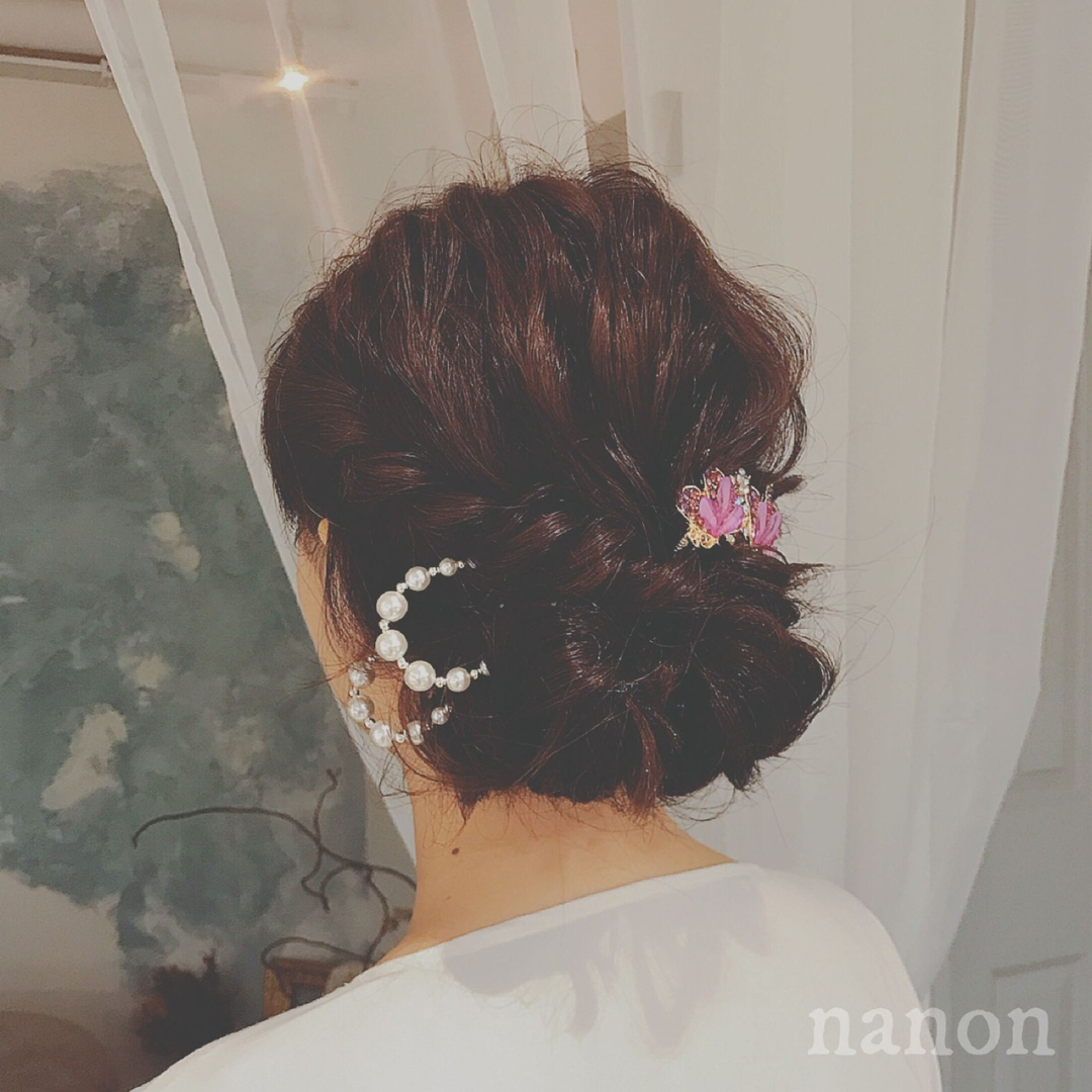 浦川 由起江さんのヘアスタイルの写真。テーマは『着物ヘア、ヘアアレンジ』