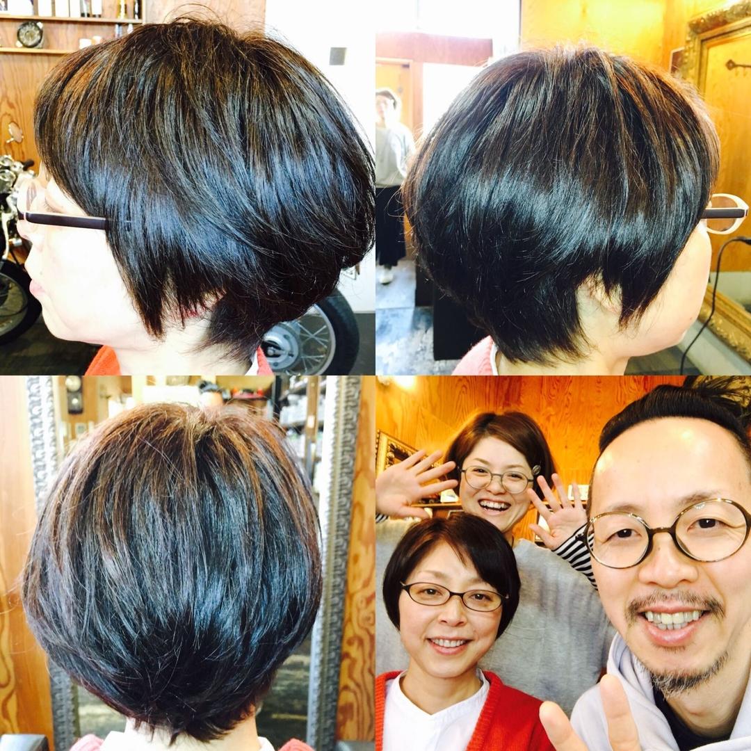 サブさんのヘアスタイルの写真。テーマは『デコンプレッション、プチスパ2、ショート、大人ショート、かっこかわいい、癒し、レイキ、reiki、jikidenreiki、直傳靈氣』