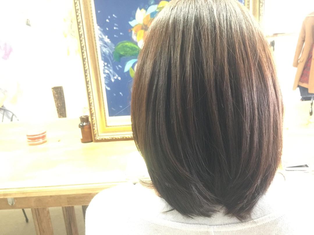 DAIKIさんのヘアスタイルの写真。テーマは『縮毛矯正、ストレートパーマ、大阪、ヘア』