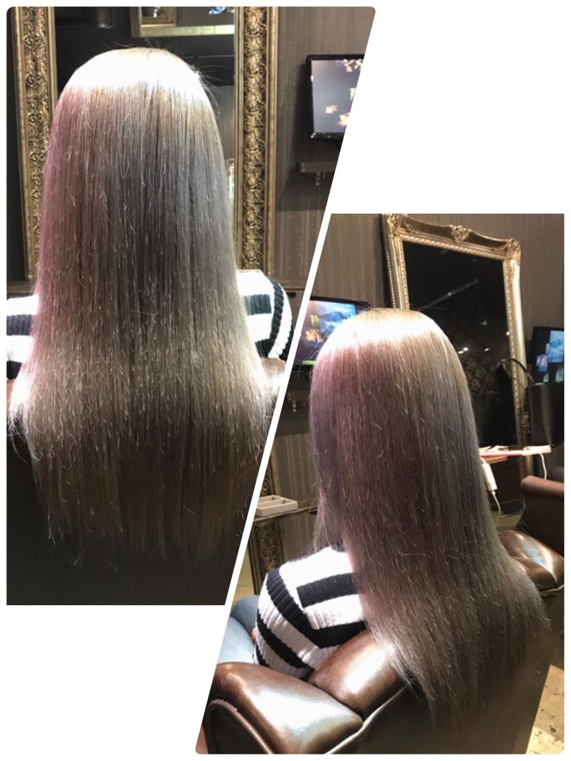 HANAさんのヘアスタイルの写真。テーマは『ホワイト、ミルクティーアッシュ、ミルクティー、ブリーチ、外国人風、透明感、名古屋、栄、矢場町、bitter』
