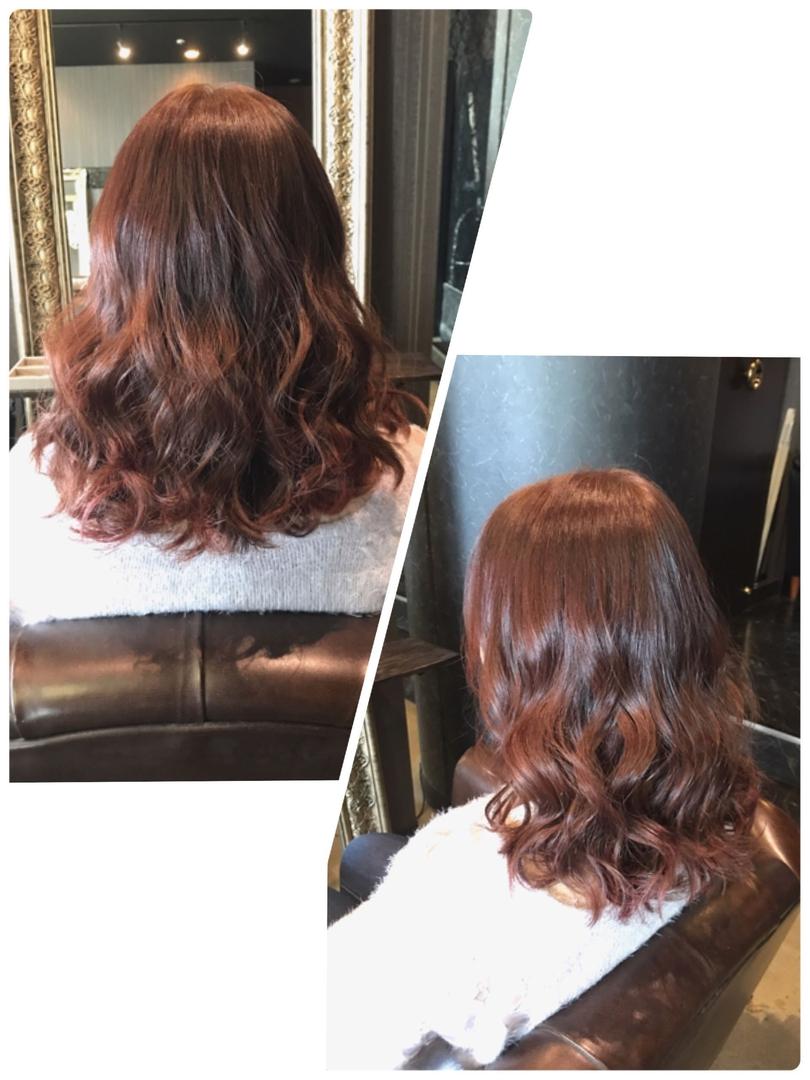 HANAさんのヘアスタイルの写真。テーマは『ピンク、レッド、ピンクブラウン、ブリーチなし、外国人風、トーンアップ、名古屋、栄、矢場町、bitter』