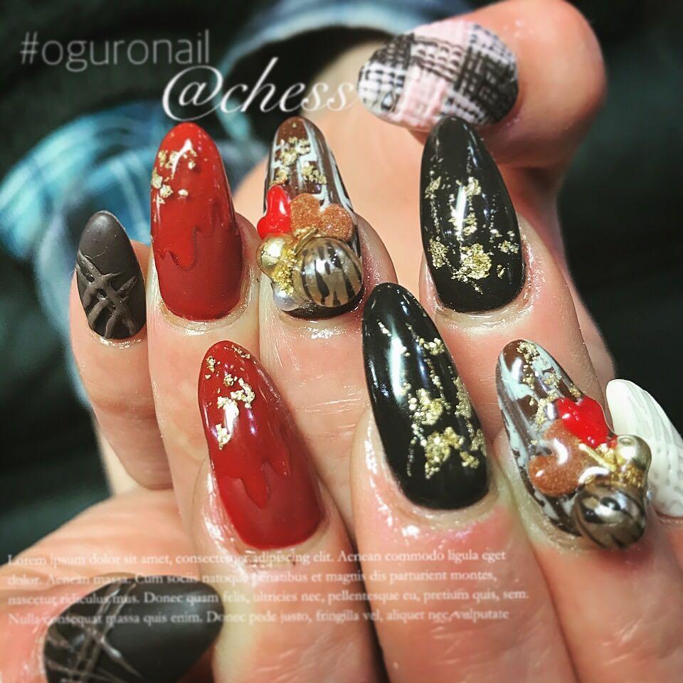 chessさんのネイルデザインの写真。テーマは『ネイル、ジェルネイル、自爪、ロングネイル、nail、instanails、newnails、ネイルデザイン、バレンタイン、バレンタインネイル、チョコレート、chocolate、マットネイル、紗々ネイル、美味しそう、可愛い、3dネイル、イベントネイル、オシャレ、神戸、三宮、三宮ネイルサロン、oguronail、chessnail』
