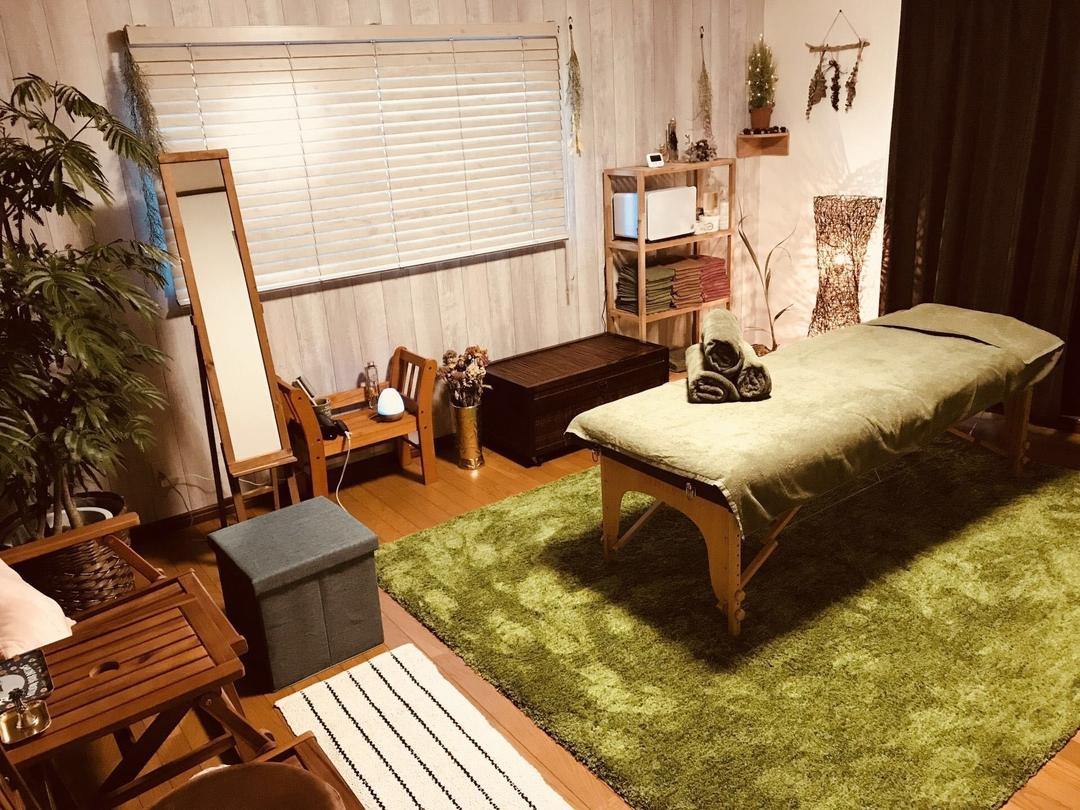 Momoko Aoyamaさんのリラクゼーションの写真。テーマは『癒し、癒し空間、観葉植物、自宅サロン、隠れ家サロン、奈良県葛城市』