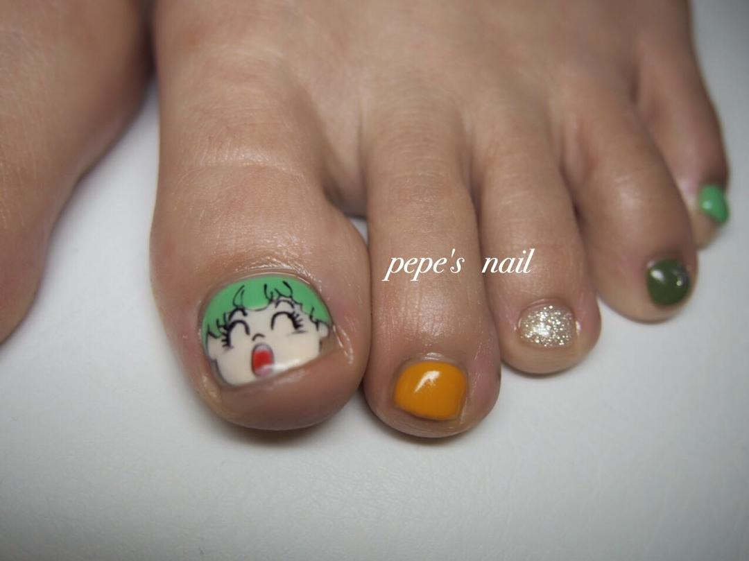 pepe's nailさんのネイルデザインの写真。テーマは『pepesnail、nail、nailart、nailstagram、gelnail、nails、paragel、pregel、vetro、handnail、ネイル、ネイルアート、ハンドネイル、フットネイル、キャラクターネイル、自宅ネイル、大分市』