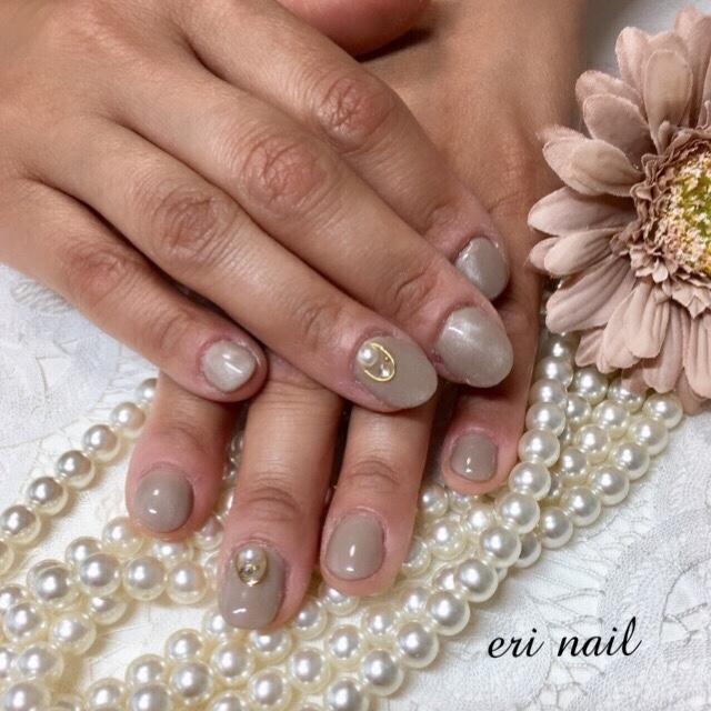名古屋市天白区プライベートサロンeri nailさんのネイルデザインの写真。テーマは『ベージュネイル、ネイル』