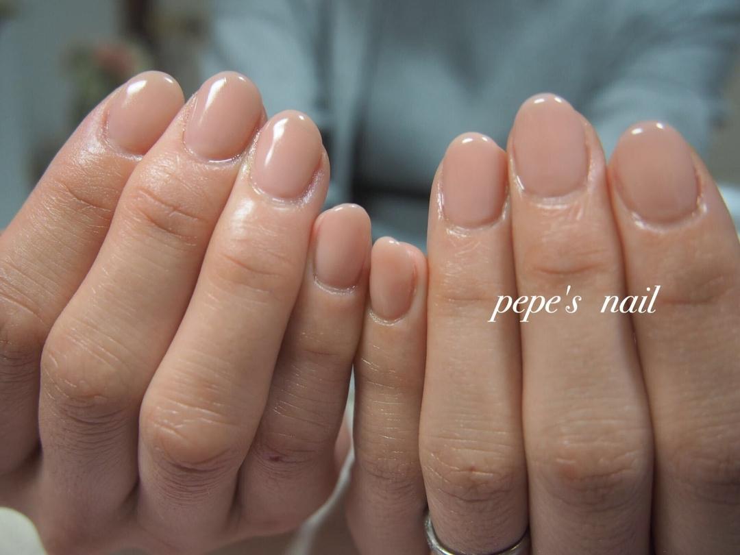 pepe's nailさんのネイルデザインの写真。テーマは『pepesnail、nail、nailart、nailstagram、gelnail、nails、paragel、pregel、vetro、bellaforma、handnail、ネイル、ネイルアート、ハンドネイル、春ネイル、シンプルネイル、オフィスネイル、グラデーション、ワンカラー、自宅ネイル、大分市』