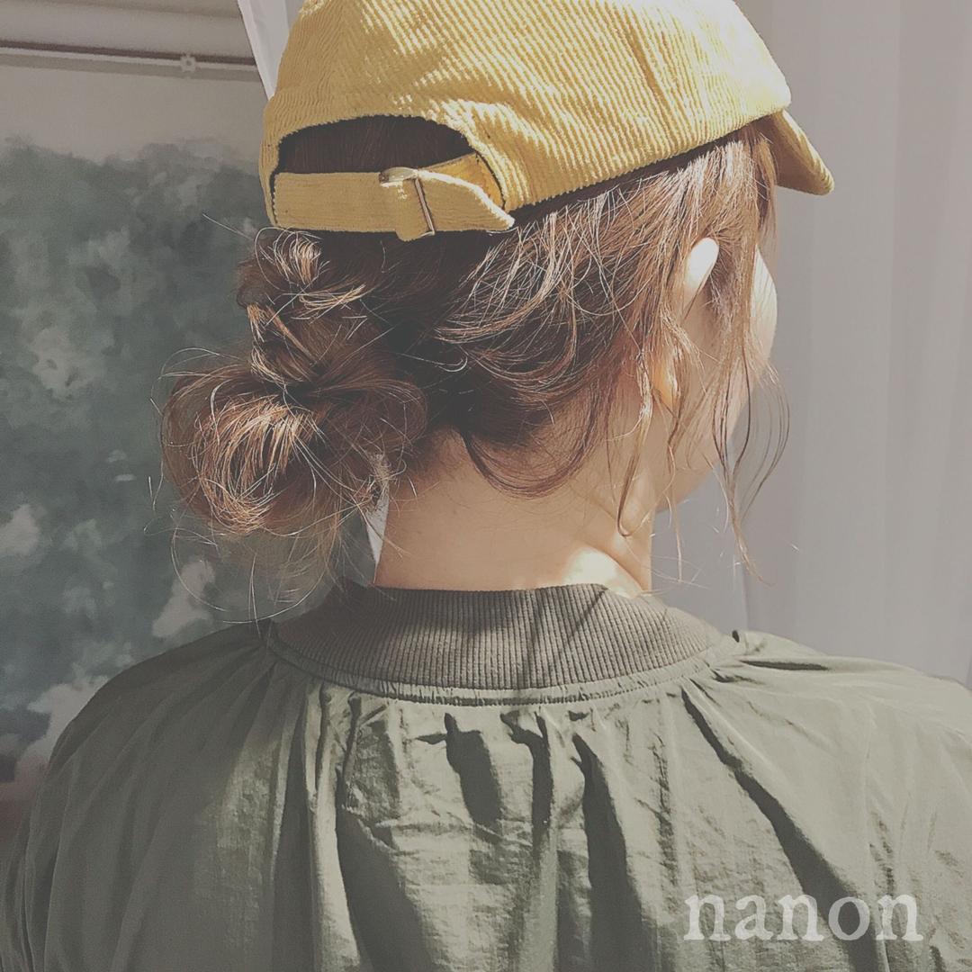 浦川 由起江さんのヘアスタイルの写真。テーマは『ヘアアレンジ、キャップヘアアレンジ、簡単ヘアアレンジ』