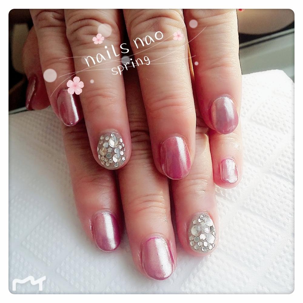 nails naoさんのネイルデザインの写真。テーマは『ミラーネイル』