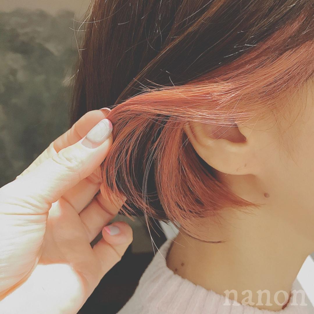 浦川 由起江さんのヘアスタイルの写真。テーマは『インナーカラー、ピンクアッシュ、外国人風カラー、ボブ、デザインカラー』
