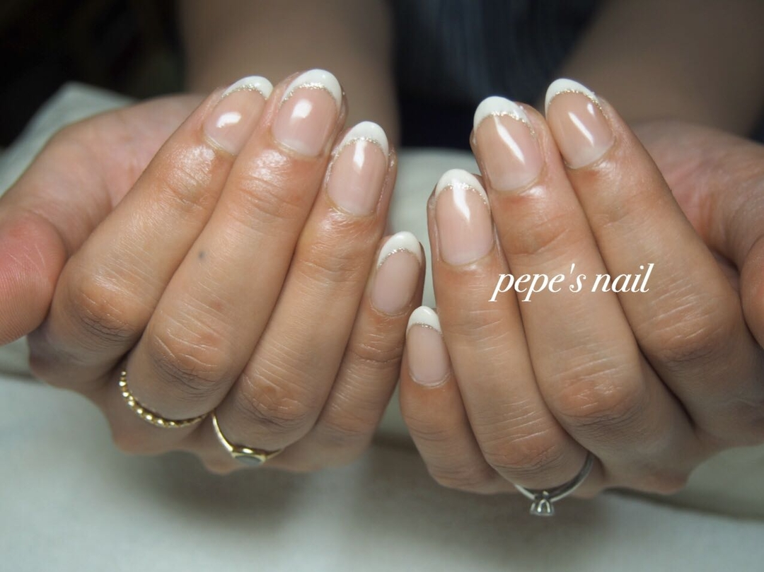pepe's nailさんのネイルデザインの写真。テーマは『pepesnail、nail、nailart、nailstagram、gelnail、nails、paragel、pregel、vetro、bellaforma、handnail、ネイル、ネイルアート、シンプルネイル、オフィスネイル、フレンチ、フレンチネイル、ハンドネイル、自宅ネイル、大分市』