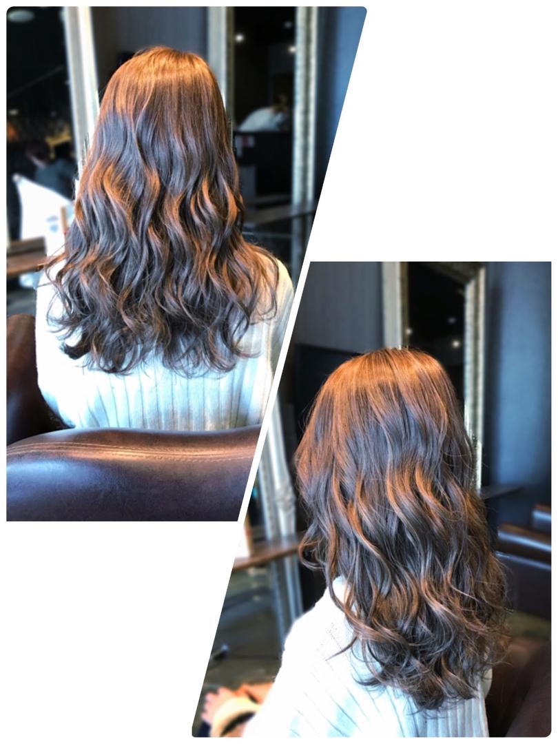 HANAさんのヘアスタイルの写真。テーマは『ハイライト、アッシュ、外国人風、透明感、アッシュベージュ、グレージュ、ベージュ、ウェーブ』