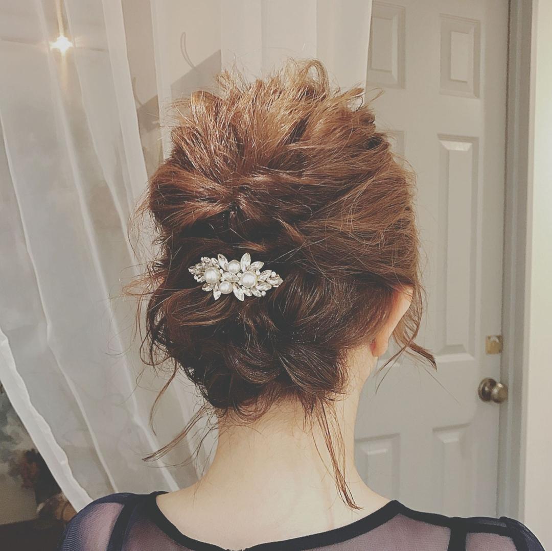 浦川 由起江さんのヘアスタイルの写真。テーマは『列席ヘア、ヘアアレンジ、プライベートサロン』