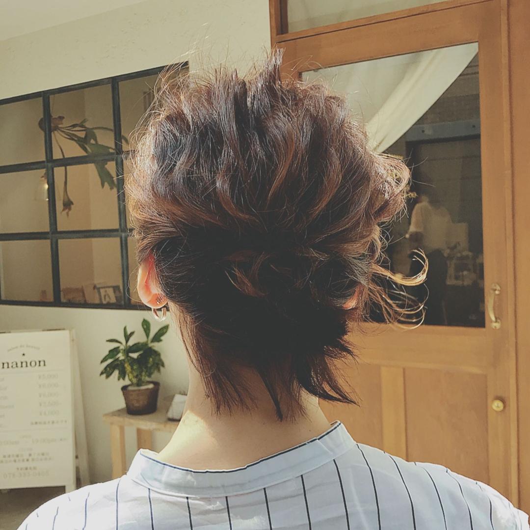 浦川 由起江さんのヘアスタイルの写真。テーマは『ボブアレンジ、プライベートサロン、アレンジ、簡単アレンジ』