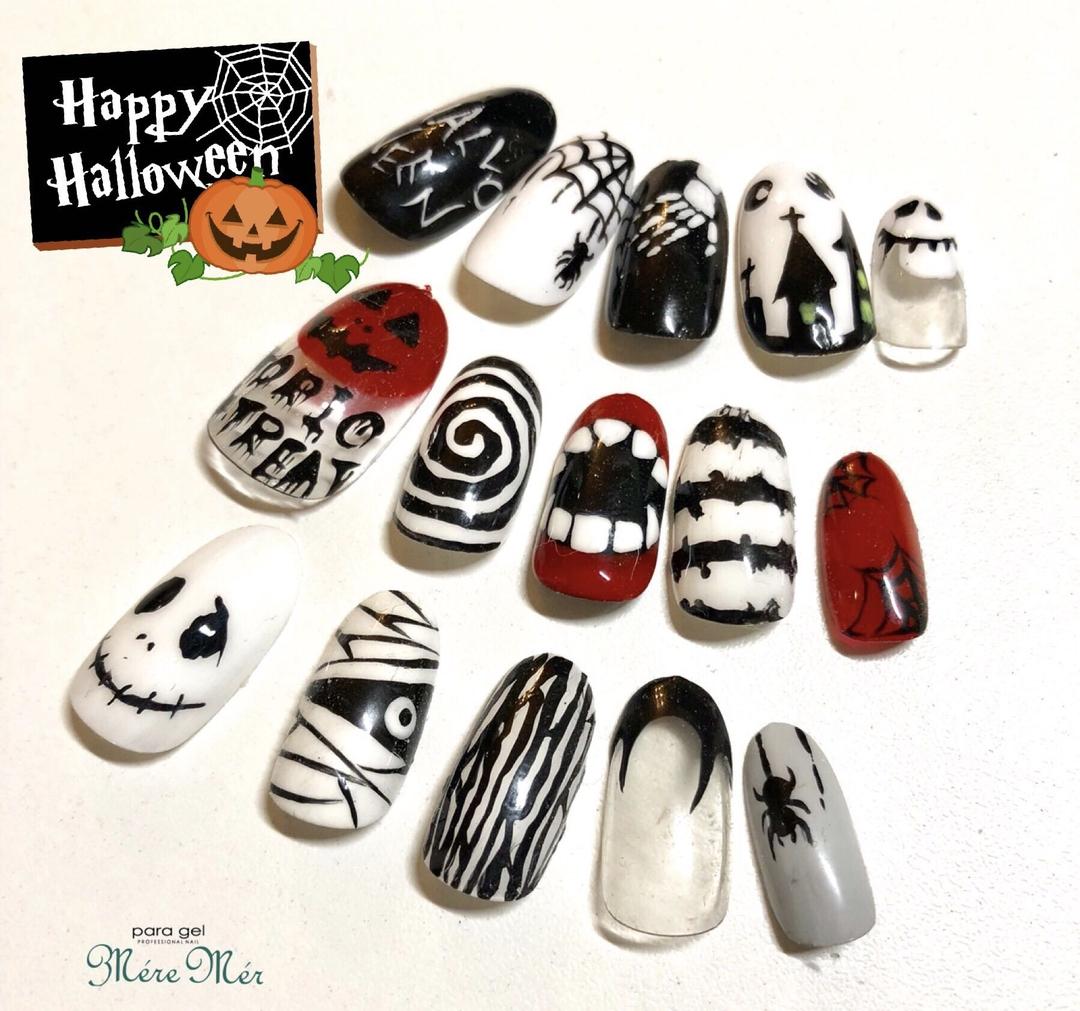 Satomi Kawamitsuさんのネイルデザインの写真。テーマは『秋ネイル、大人、トレンド、ハロウィンネイル、ハロウィン、秋、おばけ』