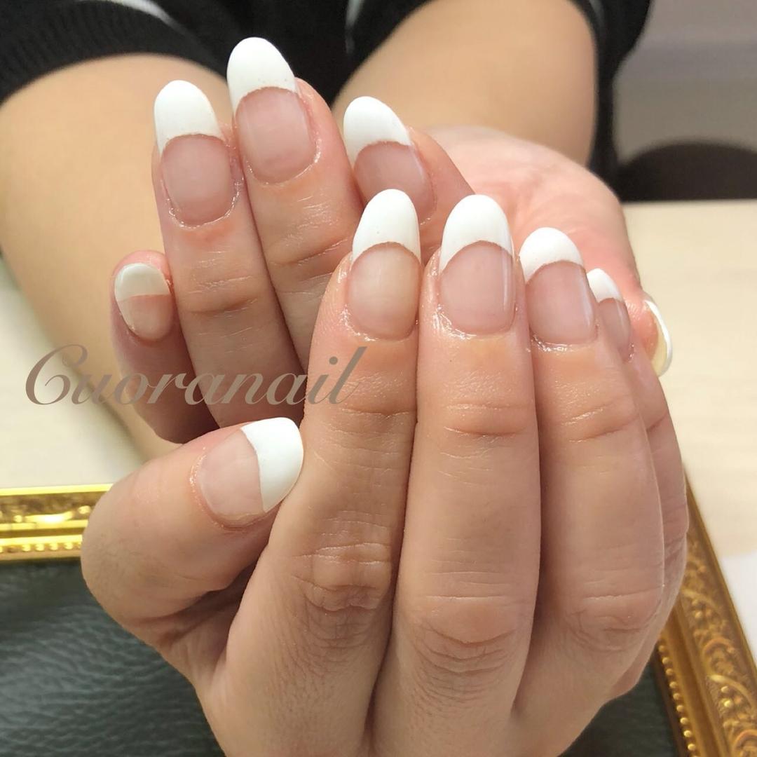 Cuoranailさんのネイルデザインの写真。テーマは『フレンチネイル、フレンチ、ジェルネイル、ジェルフレンチ、帯広ネイル、帯広ネイルサロン、帯広、クオーラネイル、札内、幕別、音更、音更ネイルサロン、音更ネイル、nail、nailart、nails、nailstagram、nails💅、naildesign、ネイルデザイン』