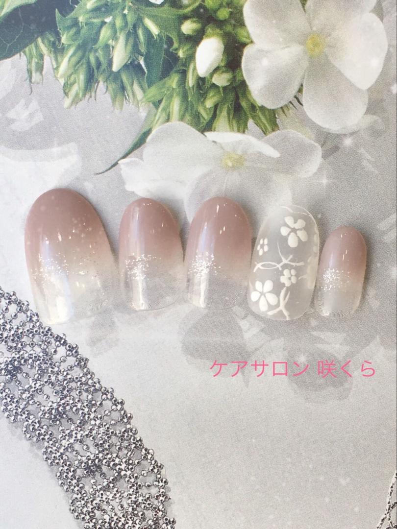 ケアサロン 咲くらさんのネイルデザインの写真。テーマは『ケアサロン咲くら、愛媛県、松山市』