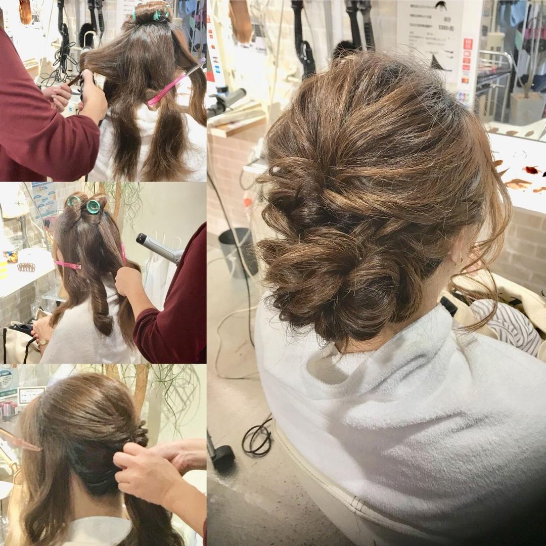 hair&make 8LAMIA8(ラミア)さんのヘアスタイルの写真。テーマは『JHSS広島校、入学金無料、自由登校、中国地方唯一、広島市中区、八丁堀駅徒歩1分、ヘアメイク、ヘアセット、ヘアエクステ、メイク、着付け、ネイル、ヘアメイクスクール、体験レッスン受付中』