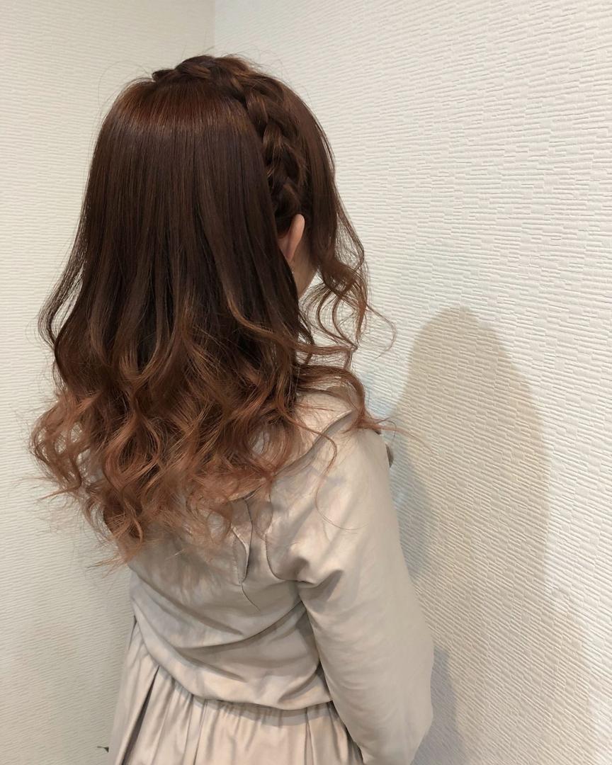 髪型,編み込みカチューシャ