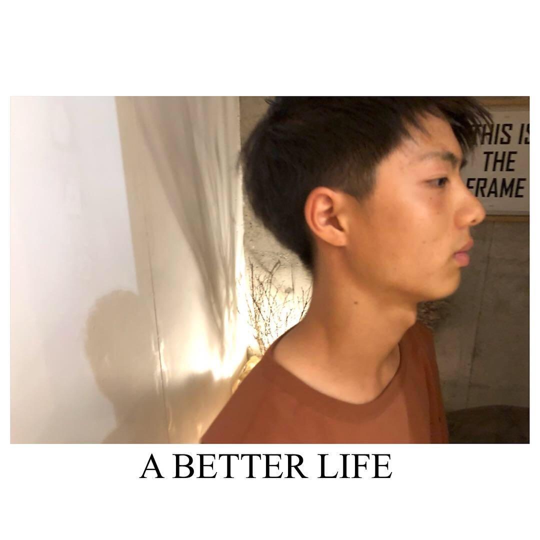 藤枝晃也さんのヘアスタイルの写真。テーマは『メンズ、ヘア』