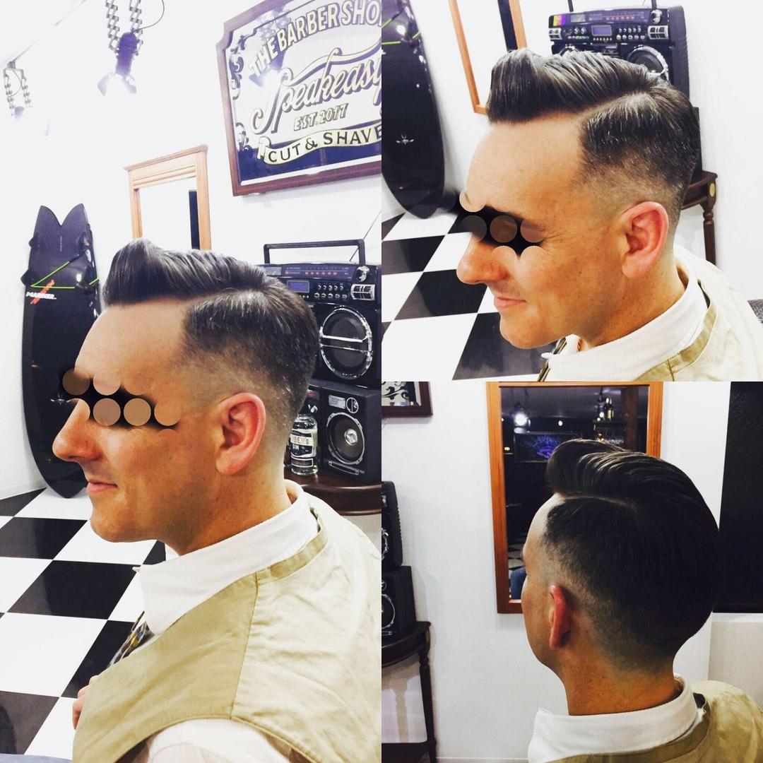 バーバースピークイージーさんのヘアスタイルの写真。テーマは『大人紳士の通うバーバー、金沢バーバー、スピークイージー、金沢駅周辺、理容室、床屋、メンズカット、フェードカット、スキンフェード、バーバースタイル、夜遅くまで営業、オシャレ、barber、barbershop、金沢バーバースタイル、金沢市バーバーショップスピークイージー、金沢市バーバーショップ、金沢市スキンフェード』