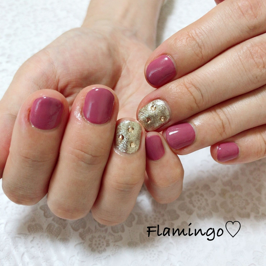 Flamingo♡さんのネイルデザインの写真。テーマは『ワンカラー、シンプルネイル、くすみカラー、オフィスネイル、秋ネイル、冬ネイル、秋冬ネイル』