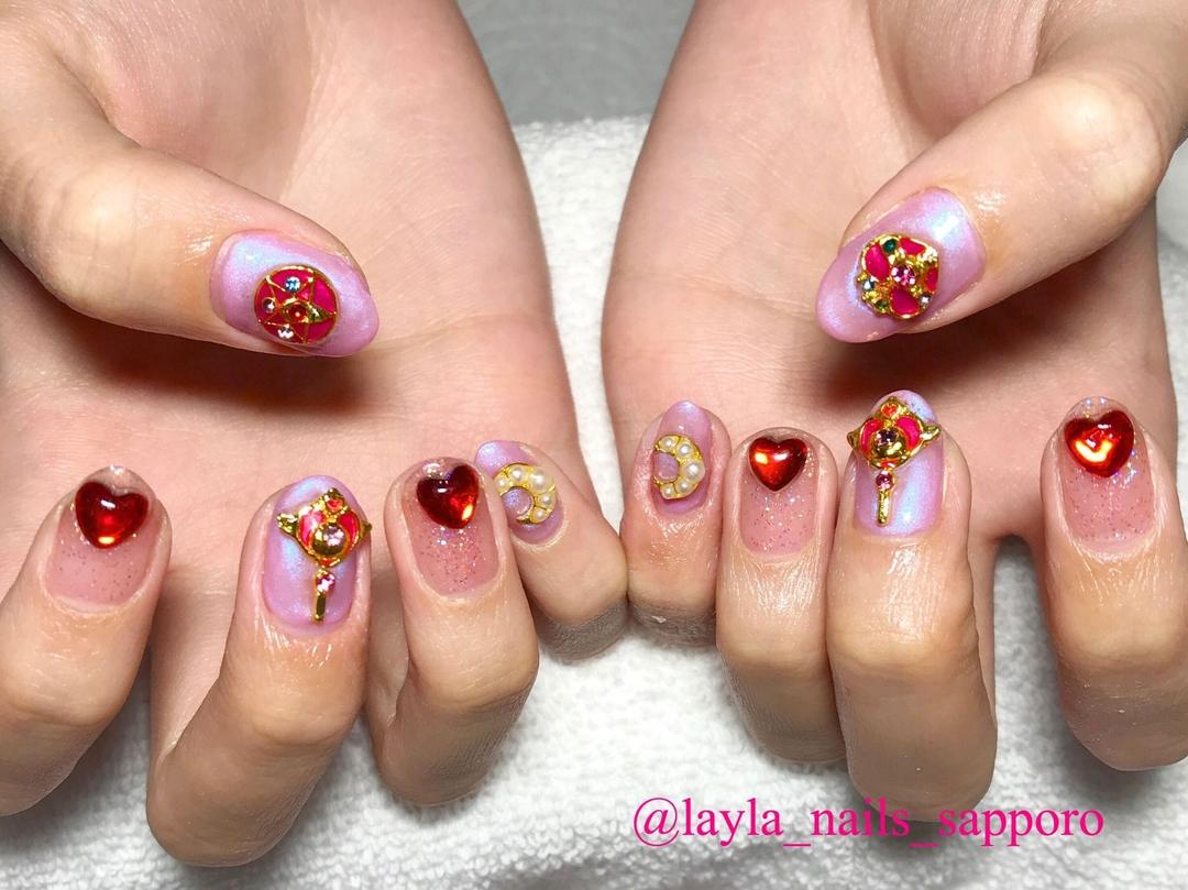 Layla Nailsさんのネイルデザインの写真。テーマは『定額ネイル、セーラームーンネイル、キャラクター、札幌』