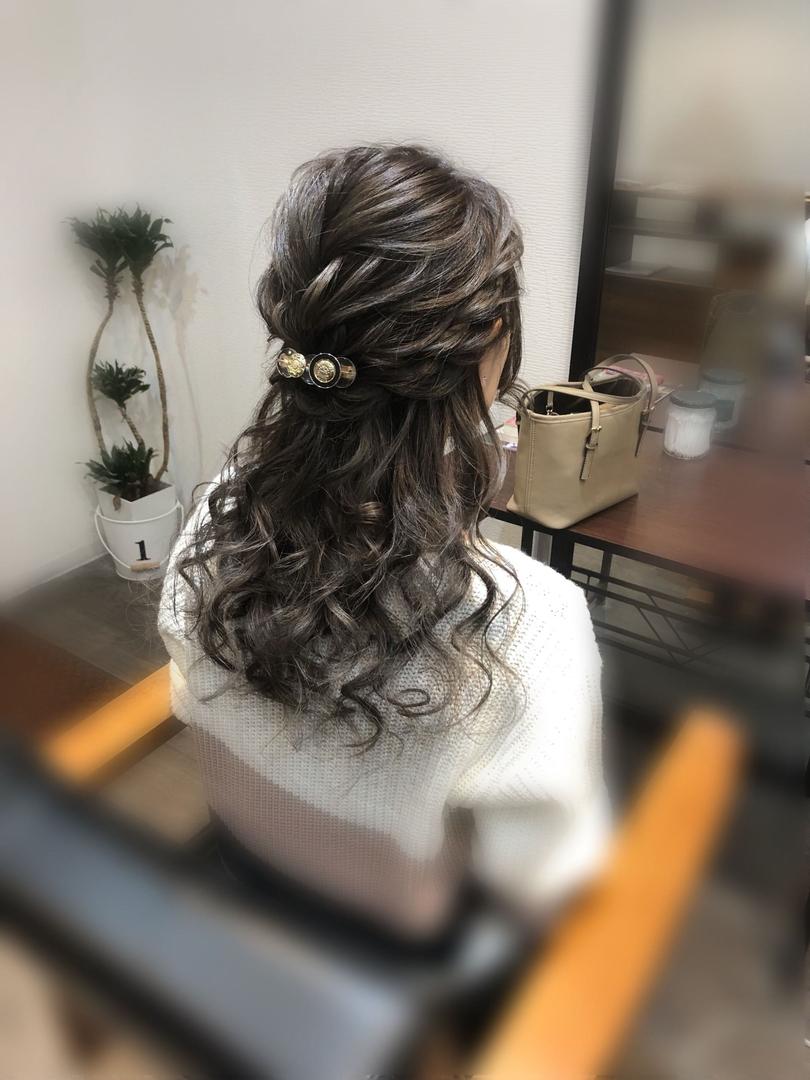 平原さんのヘアスタイルの写真。テーマは『宮崎市ヘアセット、宮崎市、ヘアセット専門店、セットサロン、ヘアセット、ヘアアレンジ、ハーフアップ、ブライダル、ブライダルヘア、編み込みアレンジ、結婚式ヘアアレンジ、結婚式ヘア、編み込みヘア、宮崎、hair、hairset、宮崎セット、hairarrange、宮崎美容室、宮崎市STELLA、宮崎市セットサロン、編み込み、宮崎市成人式、宮崎県、ハーフアップアレンジ、宮崎市セット、ボブアレンジ、宮崎市ステラ、宮崎ヘアセット、宮崎市結婚式』