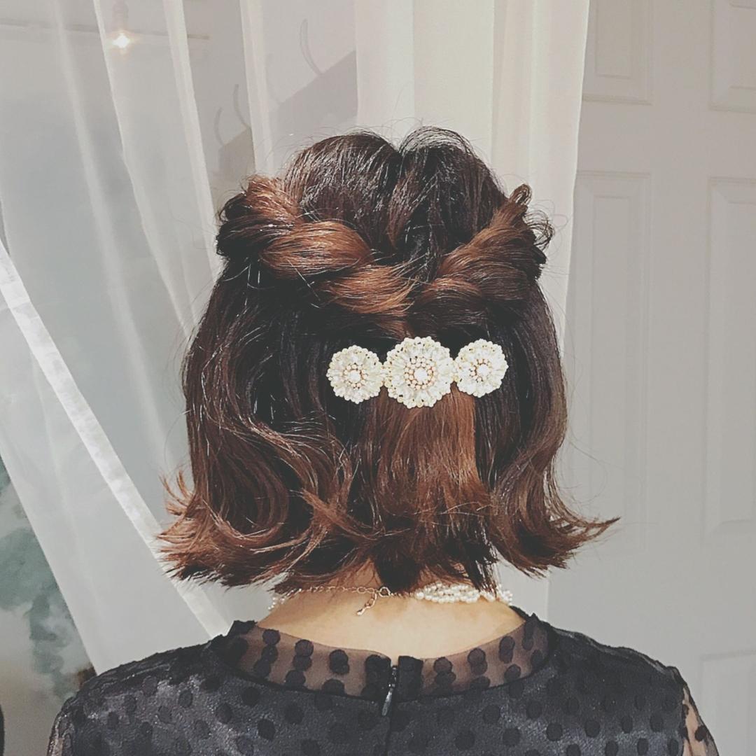 浦川 由起江さんのヘアスタイルの写真。テーマは『へアアレシンジ、arrange、ボブアレンジ、ボブ』