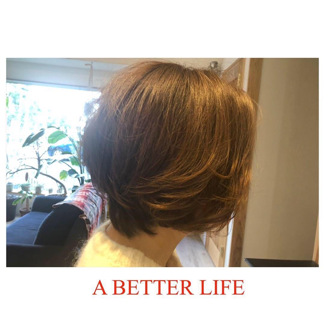 藤枝晃也さんのヘアスタイルの写真。テーマは『グラボブ、グラデーションボブ、ボブ、ヘア』