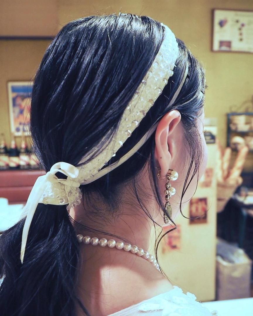 Mikaさんのヘアスタイルの写真。テーマは『ウエディング、ウエディングヘア、花嫁ヘア、名古屋、一宮、岐阜、パーソナルカラー、骨格診断』