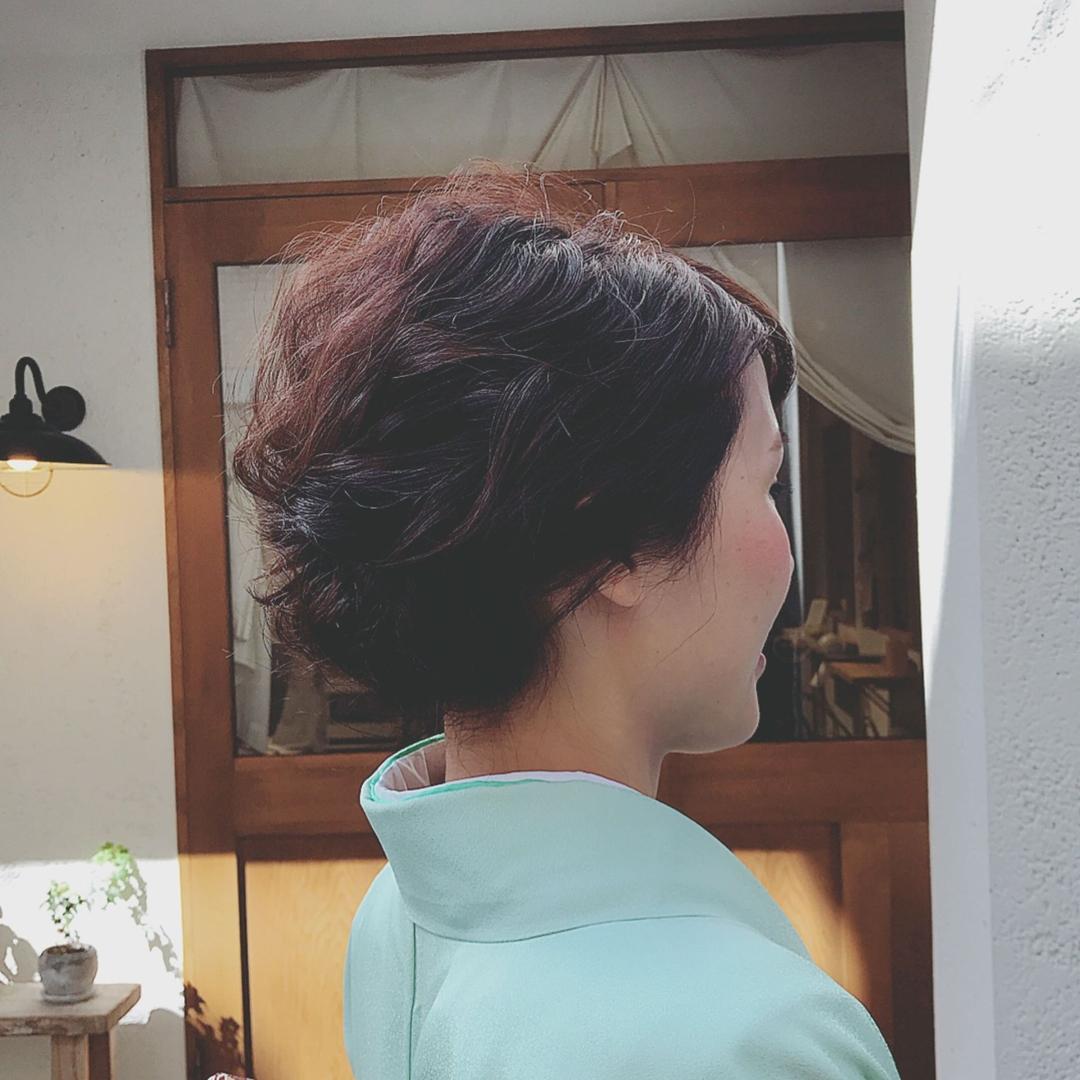 浦川 由起江さんのヘアスタイルの写真。テーマは『着物ヘア、着物、ヘアアレンジ、プライベートサロン』