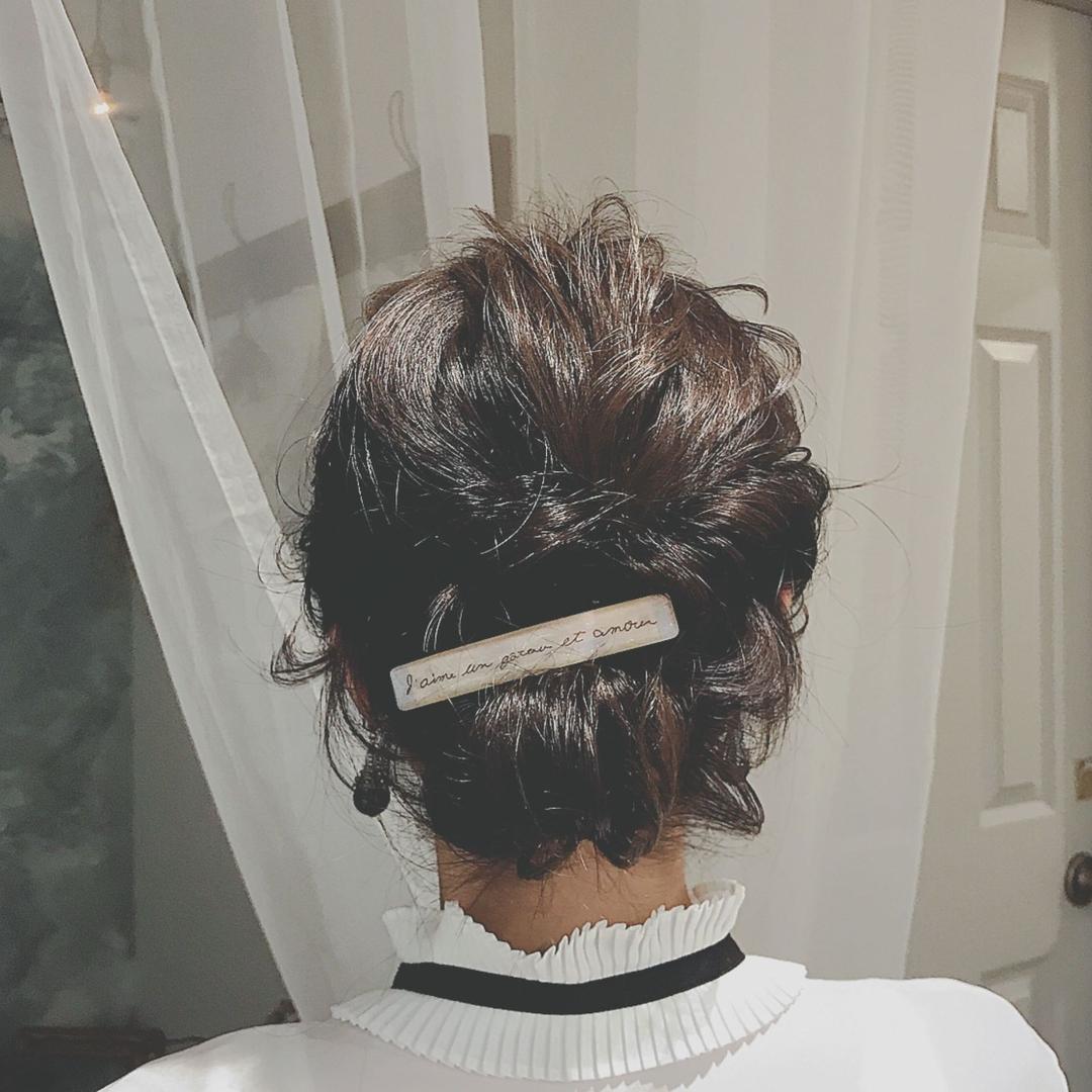 浦川 由起江さんのヘアスタイルの写真。テーマは『へアアレシンジ、プライベートサロン、バレッタアレンジ、arrange』