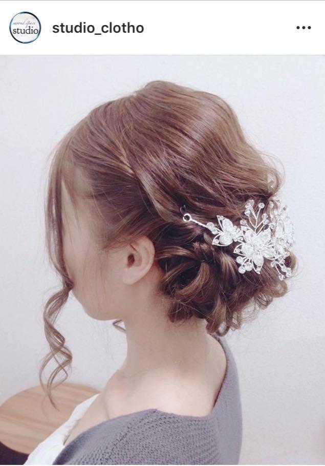 ヒロ(studio-clotho)さんのヘアスタイルの写真。テーマは『京都、祇園、セットサロン、京都セットサロン、スタジオクロト、studioclotho、ヒロstudio、プライベートサロン、ルーズ、ヘアアレンジ、結婚式、パーティー、編み込み』