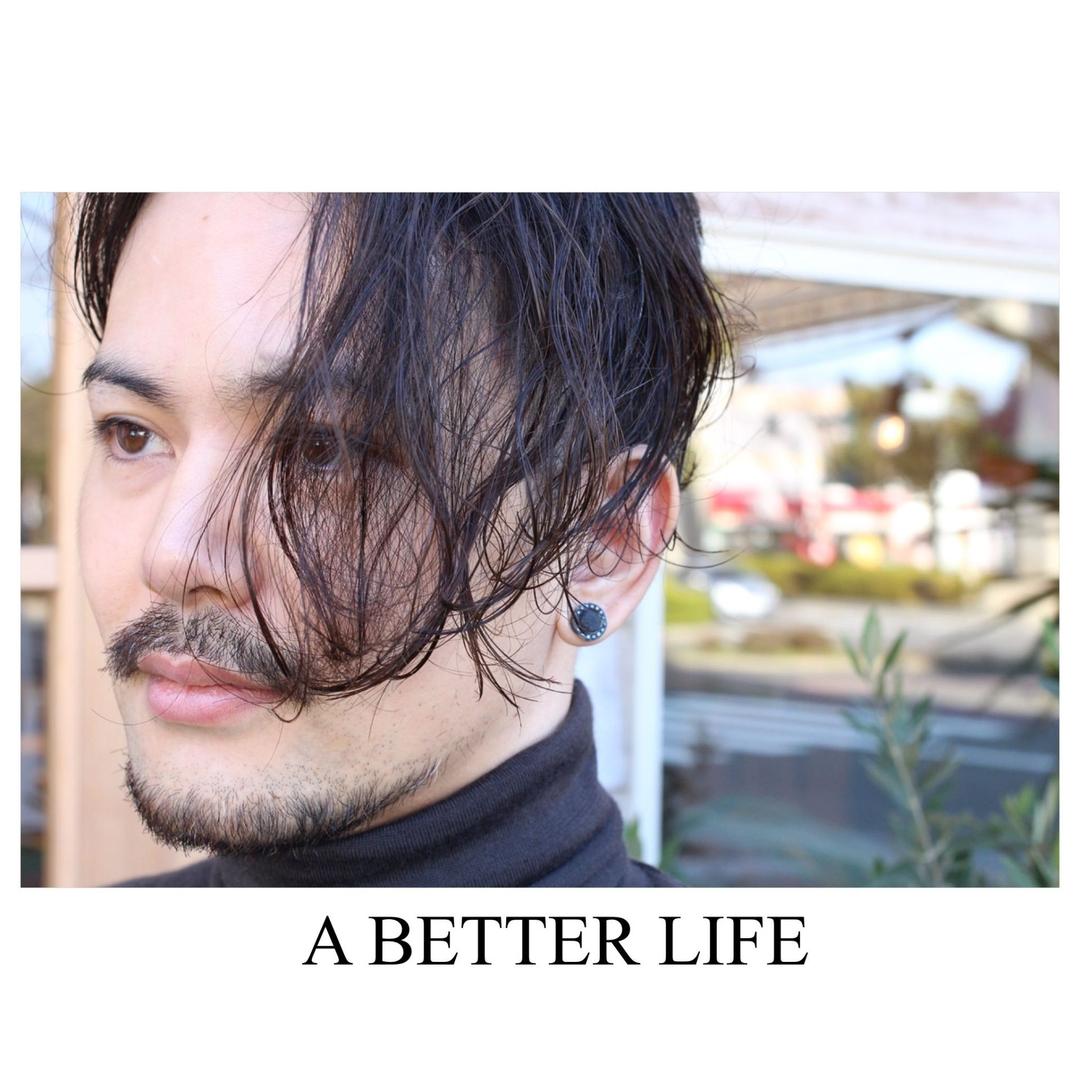 藤枝晃也さんのヘアスタイルの写真。テーマは『メンズ、ヘア、ツーブロック、ボブ』