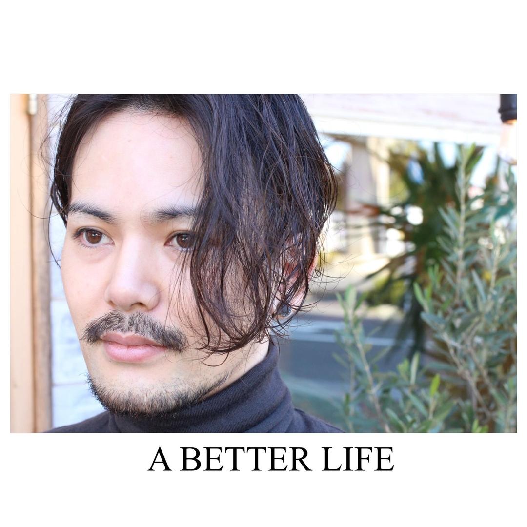 藤枝晃也さんのヘアスタイルの写真。テーマは『メンズ、ヘア、刈り上げ』