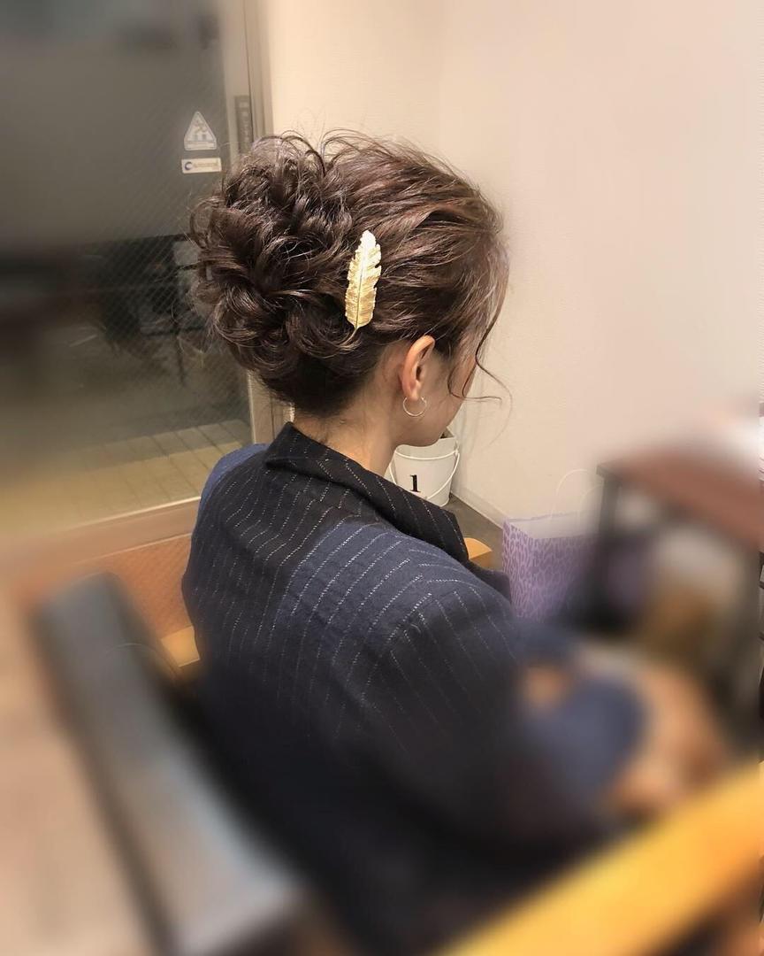 平原さんのヘアスタイルの写真。テーマは『宮崎市ヘアセット、宮崎市、ヘアセット専門店、セットサロン、ヘアセット、ヘアアレンジ、アップ、アップアレンジ、宮崎ヘアセット、およばれヘア、宮崎セット、結婚式ヘアアレンジ、結婚式ヘア、アップヘア、アレンジ、宮崎、hair、hairset、hairstyle、hairarrange、宮崎県、宮崎市STELLA、宮崎市美容室、宮崎市セット、宮崎市ステラ、アップヘアアレンジ、振袖ヘア、成人式ヘア』
