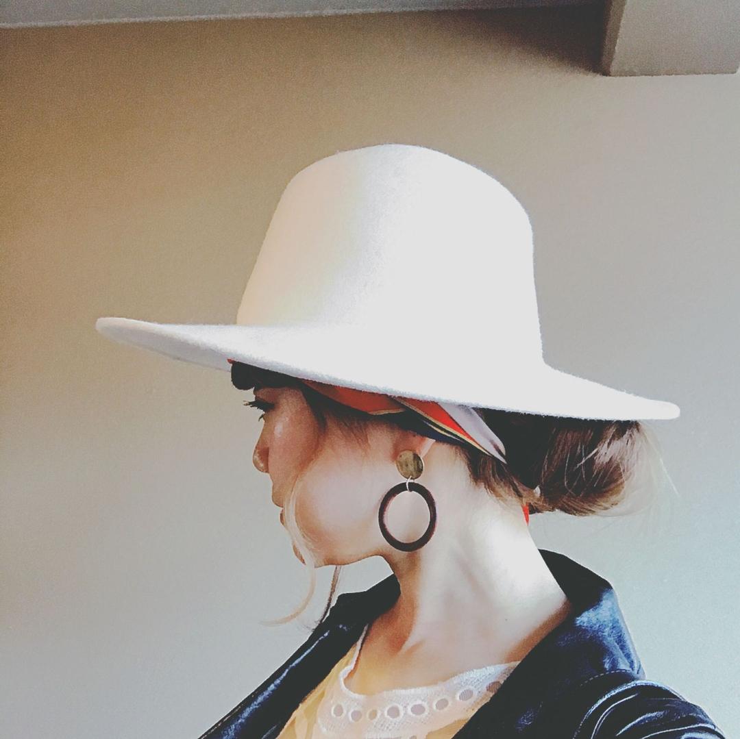 浦川 由起江さんのヘアスタイルの写真。テーマは『スカーフヘアアレンジ、ヘアアレンジ、ハットアレンジ、ウラウラヘア、プライベートサロン、nanon』