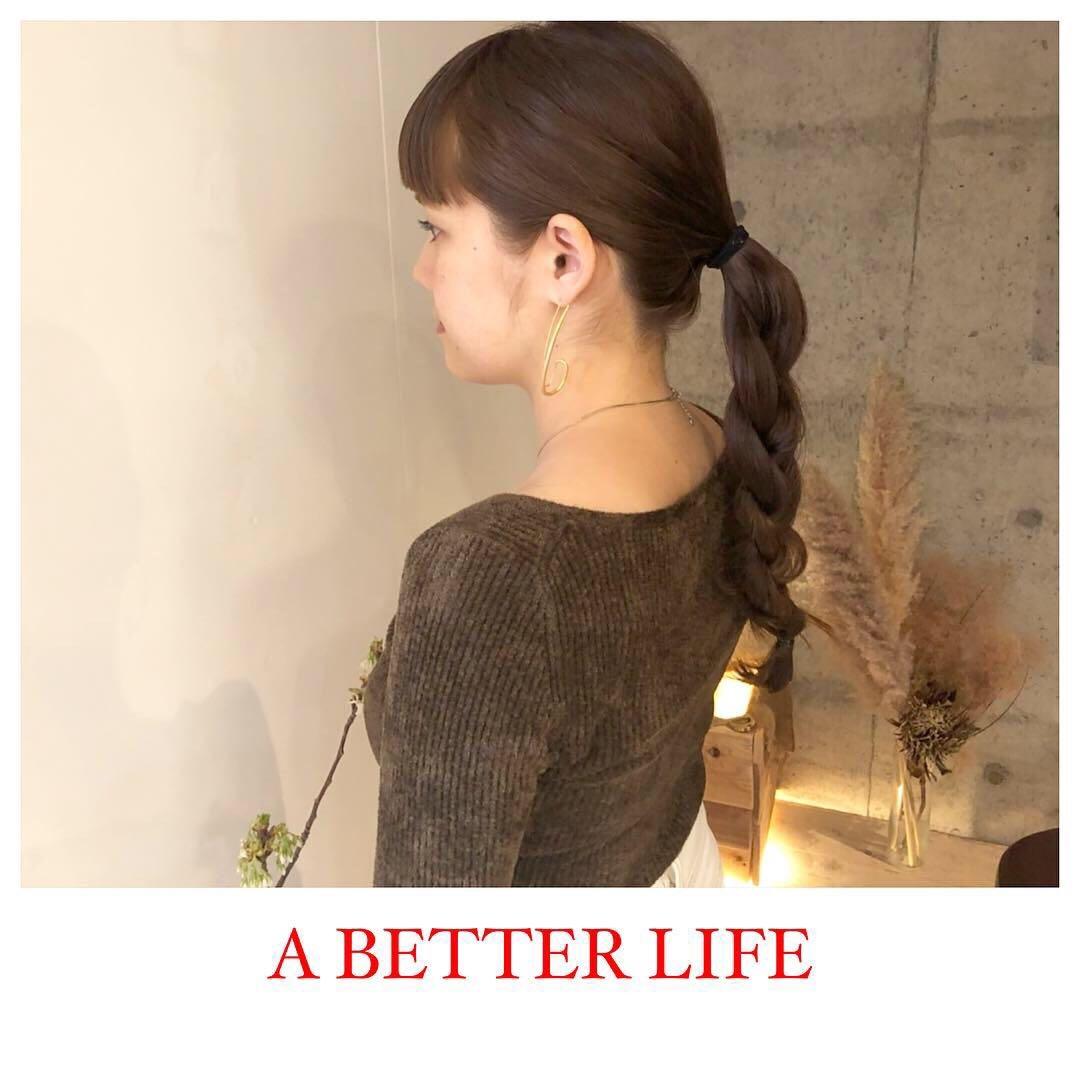藤枝晃也さんのヘアスタイルの写真。テーマは『ロング、ヘア』