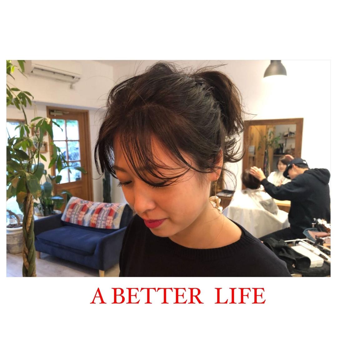 藤枝晃也さんのヘアスタイルの写真。テーマは『大人かわいい、ヘア』