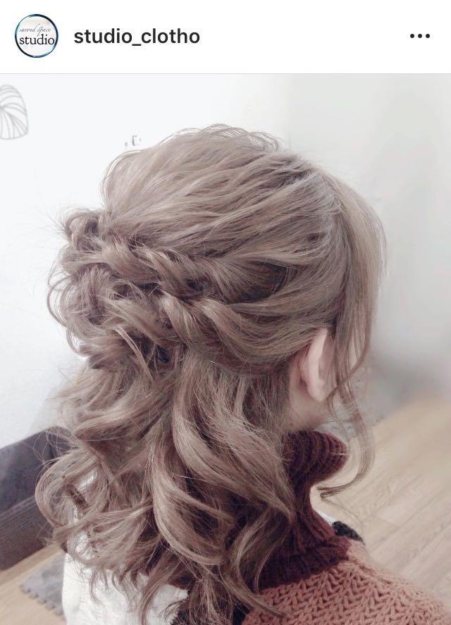 ヒロ(studio-clotho)さんのヘアスタイルの写真。テーマは『京都、祇園、kyoto、セットサロン、studioclotho、スタジオクロト、ヒロstudio、プライベートサロン、ヘアアレンジ、ヘアメイク、アーティスト、美容師、ファッション、モデル、カメラ、ナチュラル、ルーズ、エアリー、かわいい、おしゃれ、おしゃれさんと繋がりたい、ハーフアップスタイル、編み込み、お花、ブライダル、結婚式、イベント、パーティ、卒業式』