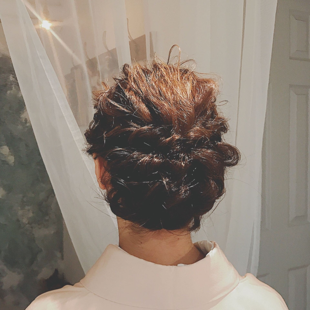 浦川 由起江さんのヘアスタイルの写真。テーマは『着物ヘア、アレンジ、プライベートサロン、nanon、ヘアアレンジ』