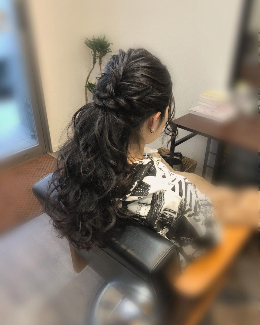 平原さんのヘアスタイルの写真。テーマは『宮崎市ヘアセット、宮崎市、ヘアセット専門店、セットサロン、ヘアセット、ヘアアレンジ、ハーフアップ、ブライダル、ブライダルヘア、結婚式、結婚式ヘアアレンジ、結婚式ヘア、ねじり、宮崎、宮崎市美容室、hairset、宮崎セット、hairarrange、宮崎美容室、宮崎市STELLA、宮崎市セットサロン、ねじりアレンジ、宮崎市成人式、宮崎県、ハーフアップアレンジ、宮崎市セット、アレンジヘア、宮崎市ステラ、宮崎ヘアセット、宮崎市結婚式』