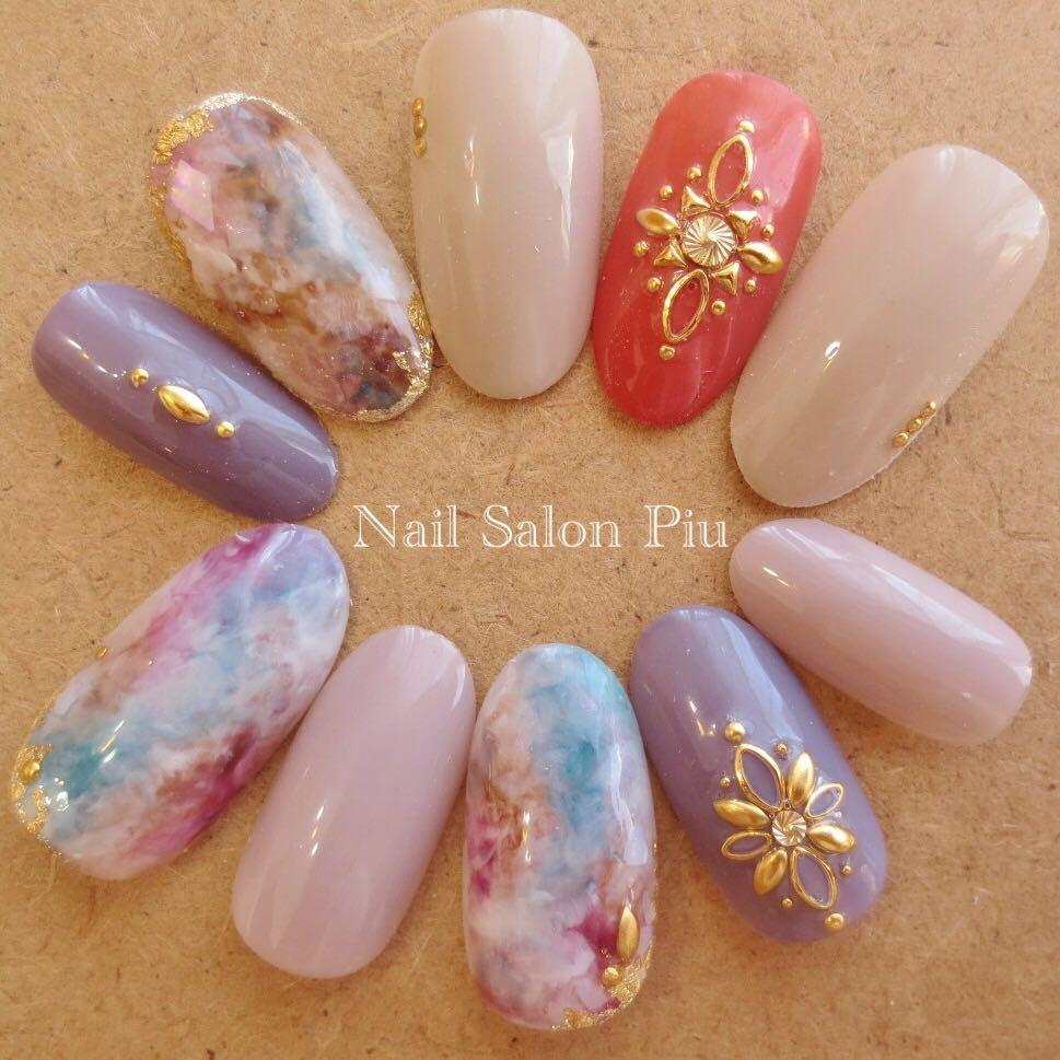 Nail Salon Piuさんの写真。テーマは『タイダイ、エスニック、夏ネイル、大人ネイル』