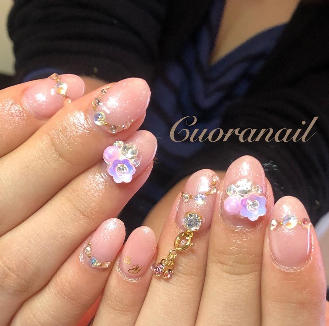 Cuoranailさんのネイルデザインの写真。テーマは『ワンカラーネイル、アイニティジェル、intygel、リッチパールコレクション、ワンカラー、ネイル、ネイルアート、ネイルデザイン、おしゃれネイル、スワロフスキー、キラキラネイル、キラキラ、フィルイン推奨サロン、nail、nails、nailstagram、nailart、naildesign、gelnails、帯広ネイルサロン、帯広ネイル、帯広、札内、幕別、音更、音更ネイルサロン、swarovski』