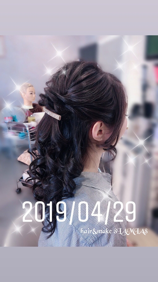 hair&make 8LAMIA8(ラミア)さんのヘアスタイルの写真。テーマは『広島、8LAMIA8、美容院、ヘアカラー、ヘアエクステ、ヘアセット、ヘアアレンジ、メイク、編み込みエクステ、シールエクステ、JHSS広島校、ヘアメイクスクール、24時迄営業の美容室、広島市中区、広島美容室、広島市、ディスコネクション、メンズ、託児サービス、駐車料金サービス』