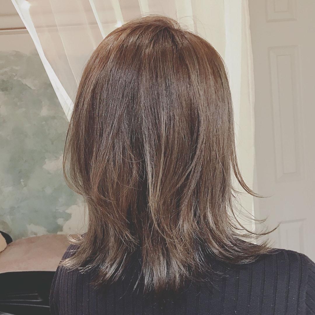 浦川 由起江さんのヘアスタイルの写真。テーマは『ウルフ、ネオウルフ、ひし形、レイヤー、ハイライト、ブリーチカラー、アッシュグレージュ、外国人風カラー、プライベートサロン、nanon』